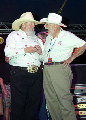 Charlie Daniels and Robert Rosenthal at Fort Leonard Wood, MO, in 2005.