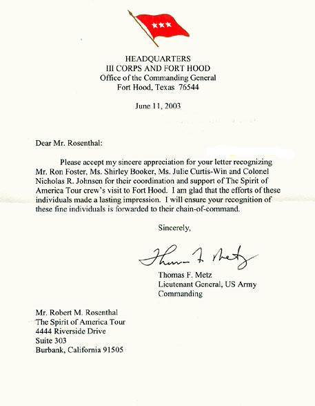 Commanding General Fort Hood Texas