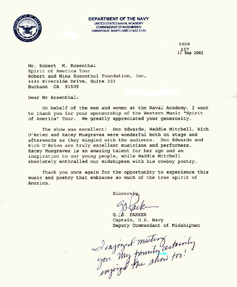 letter of recommendation for naval academy example