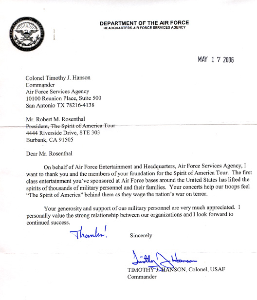 Military Letter Of Appreciation Example from spiritofamericatour.org